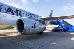Lignes aériennes du Qatar Photo libre de droits