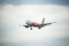 Lignes aériennes du Vietnam Vietjetair Photo libre de droits