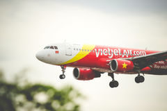 Lignes aériennes du Vietnam Vietjetair Image stock