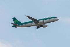 Lignes aériennes plates d'Aer Lingus Photo stock