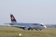 Lignes aériennes suisses Photos libres de droits