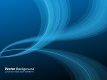 Lignes abstraites bleues illustration libre de droits