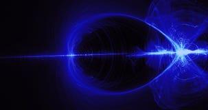 Lignes abstraites bleues fond de particules de courbes illustration libre de droits