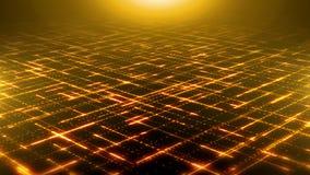 Lignes abstraites boucle de particules de Technologic de fond illustration stock