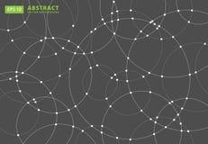 Lignes abstraites chevauchement rond de cercles concept pour votre conception, Image stock