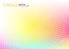 Lignes abstraites colorées Images stock