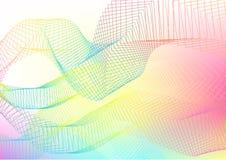 Lignes abstraites colorées Images libres de droits