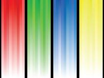 Lignes abstraites colorées de fond Image libre de droits
