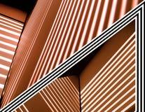 Lignes abstraites cuivre Photographie stock libre de droits