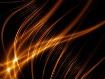 lignes abstraites d'or Photographie stock