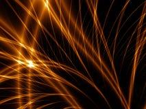 lignes abstraites d'or Image libre de droits
