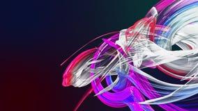Lignes abstraites dans le mouvement en tant que fond créatif sans couture E 3D fait une boucle banque de vidéos