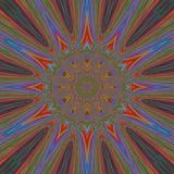 Lignes abstraites de milieux d'art bleues Photo libre de droits