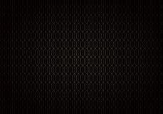 Lignes abstraites de vague modèle sans couture de treillis de gradient d'or sur le style noir d'art déco de fond illustration stock