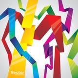 Lignes abstraites de vecteur Image stock