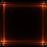 Lignes abstraites oranges Image libre de droits
