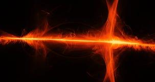 Lignes abstraites oranges fond de particules de courbes illustration de vecteur