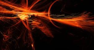 Lignes abstraites oranges fond de particules de courbes illustration stock