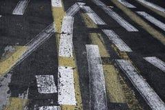 Lignes abstraites sur la rue Image stock