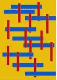 Lignes abstraites sur le fond jaune Photographie stock