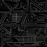 Lignes abstraites sur le fond noir illustration de vecteur