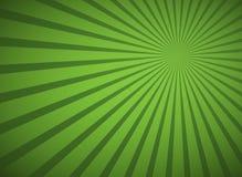Lignes abstraites vertes fond avec les rayons radiaux illustration libre de droits