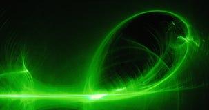 Lignes abstraites vertes fond de particules de courbes illustration de vecteur