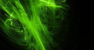 Lignes abstraites vertes fond de particules de courbes illustration libre de droits