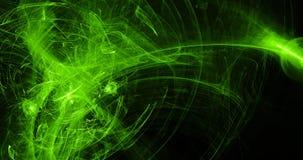 Lignes abstraites vertes fond de particules de courbes illustration stock