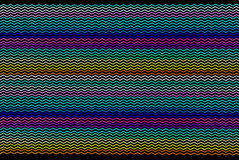 Lignes angulaires colorées Photo stock