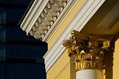 Lignes architecturales de l'empire d'or Photos stock