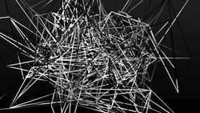 Lignes blanches abstraites sur un noir illustration stock