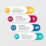 Lignes blanches flèches de vecteur infographic Photo stock