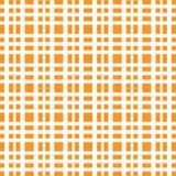 Lignes blanches modèle de grille orange d'échecs lumineux illustration libre de droits