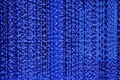 Lignes bleu-foncé lampes au néon fond, lumière lumineuse de scintillement de résumé, conception de fête d'affiche de partie de cl illustration de vecteur