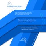Lignes bleues Images stock