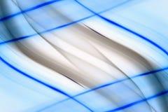 Lignes bleues abstrait Photos libres de droits