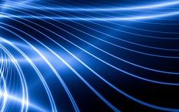 Lignes bleues abstraites Images libres de droits