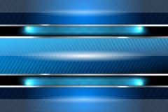 Lignes bleues abstraites conception de fond Image stock