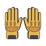 Lignes bleues d'équipement de gants de sapeur-pompier illustration stock