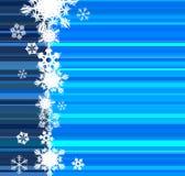 lignes bleues de Noël de carte Image stock