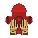 Lignes bleues de secours de délivrance de sapeur-pompier illustration stock