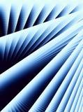Lignes bleues diagonales pistes Photos stock