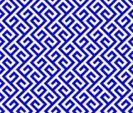 Lignes bleues et blanches de sinuos Photographie stock