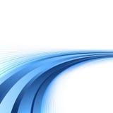 Lignes bleues lumineuses fond de certificat Image libre de droits