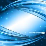 Lignes bleues rougeoyantes Image stock