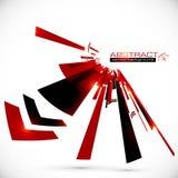 Lignes brillantes rouges et noires abstraites fond illustration stock