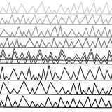 Lignes cassées, de gris-clair au noir Photo stock