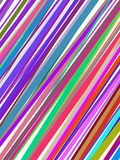 Lignes colorées abstraites cache Images stock