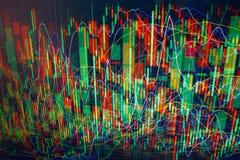 Lignes colorées abstraites de pixel de diagramme sur l'écran. Photographie stock libre de droits
